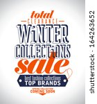 winter collections sale poster... | Shutterstock .eps vector #164263652