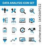 data analysis vector icon set...   Shutterstock .eps vector #1642669312