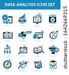 data analysis vector icon set...   Shutterstock .eps vector #1642669315