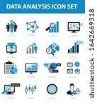 data analysis vector icon set...   Shutterstock .eps vector #1642669318