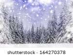 Christmas Background With Snowy ...