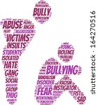 Bullying Concept Pictogram Tag...