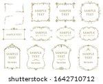 elegant frame design... | Shutterstock .eps vector #1642710712