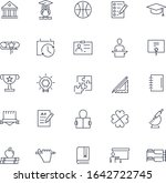 line icons set. college pack.... | Shutterstock .eps vector #1642722745