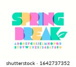 vector colorful sign spring... | Shutterstock .eps vector #1642737352