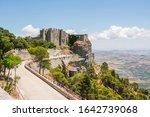 erice  sicily  italy. castello... | Shutterstock . vector #1642739068