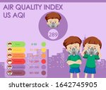 diagram showing air quality... | Shutterstock .eps vector #1642745905