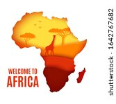 welcome to africa poster.... | Shutterstock .eps vector #1642767682
