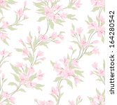 stylish vintage floral seamless ... | Shutterstock .eps vector #164280542