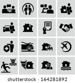 insurance icons | Shutterstock .eps vector #164281892