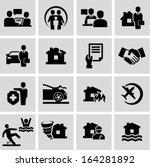 insurance icons | Shutterstock .eps vector #164281892