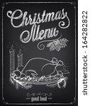 christmas illustration of a... | Shutterstock .eps vector #164282822