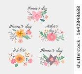 8 march international women's... | Shutterstock .eps vector #1642848688
