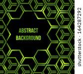 abstract green shining 3d... | Shutterstock .eps vector #164287292