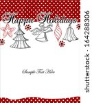merry christmas card | Shutterstock .eps vector #164288306