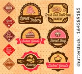 elegant vector bakery labels... | Shutterstock .eps vector #164289185