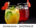 tasty cocktails for valentine's ... | Shutterstock . vector #1642906618