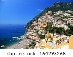 positano resort on the amalfi... | Shutterstock . vector #164293268