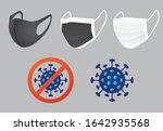 coronavirus mask  protective... | Shutterstock .eps vector #1642935568