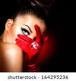beauty fashion glamorous model... | Shutterstock . vector #164295236