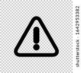 warning icon flat vector on...