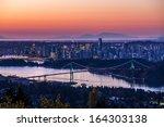 Vancouver City Sunrise - stock photo