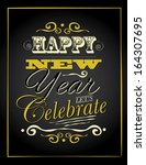 new year type poster... | Shutterstock . vector #164307695