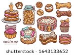 set of pastry  cookie  cakes... | Shutterstock .eps vector #1643133652