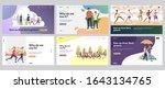 outdoor activities set. friends ...   Shutterstock .eps vector #1643134765
