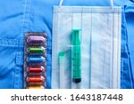 medical mask and other... | Shutterstock . vector #1643187448