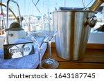 romantic luxury evening on... | Shutterstock . vector #1643187745