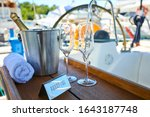 romantic luxury evening on... | Shutterstock . vector #1643187748