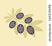 olive pattern vector... | Shutterstock .eps vector #164319698
