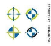 set of target icons. aim signs... | Shutterstock .eps vector #1643208298