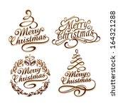 calligraphic christmas... | Shutterstock .eps vector #164321288