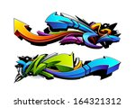 graffiti arrows designs. vector ... | Shutterstock .eps vector #164321312