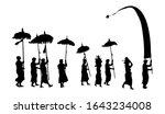 black balinese melasti ceremony ... | Shutterstock .eps vector #1643234008