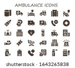 ambulance icon set. 30 filled... | Shutterstock .eps vector #1643265838