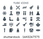 tube icon set. 30 filled tube... | Shutterstock .eps vector #1643267575
