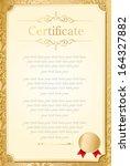 retro frame certificate... | Shutterstock .eps vector #164327882