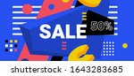 vector bright sale abstract... | Shutterstock .eps vector #1643283685