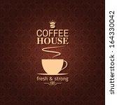 coffee cup vintage design... | Shutterstock .eps vector #164330042