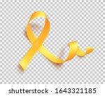 realistic gold ribbon. world...   Shutterstock .eps vector #1643321185