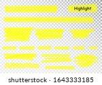 yellow highlighter marker...   Shutterstock .eps vector #1643333185