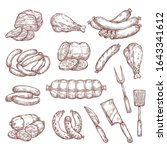 beef and pork sketches ... | Shutterstock .eps vector #1643341612