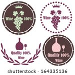 wine. icon. vector illustration | Shutterstock .eps vector #164335136