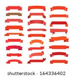 different retro style red...   Shutterstock .eps vector #164336402