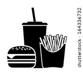 fast food icon | Shutterstock .eps vector #164336732
