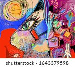 original digital contemporary... | Shutterstock .eps vector #1643379598