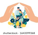 vector illustration of a happy... | Shutterstock .eps vector #1643399368
